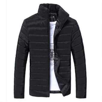 Black 2017 Winter Duck Down Jacket Ultra Men Solid Coat Down ParkasFashion Mens Jackets Down Stand Collar Feather Outerwear Coat LargeSize 3XL - intl