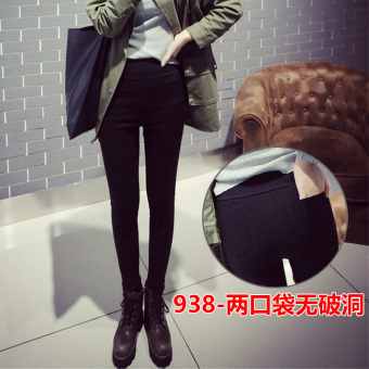 Black female outerwear summer ankle-length pants leggings (938 [two with pockets no with holes])