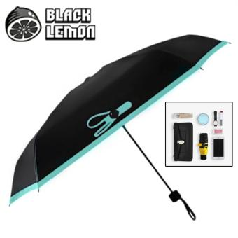 Black Lemon Nano Umbrella - Anti-UV Double Layer Five Fold SunnyUmbrella (Blue) Price Philippines