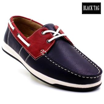 Black Tag Cyrel Casual Shoes For Men (Red/Navy)
