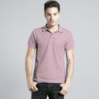 BLKSHP Honey Comb Polo Shirt for Men (Light Pink)