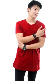 BLKSHP Oversized Softstyle Longline Tee (Solid Red)