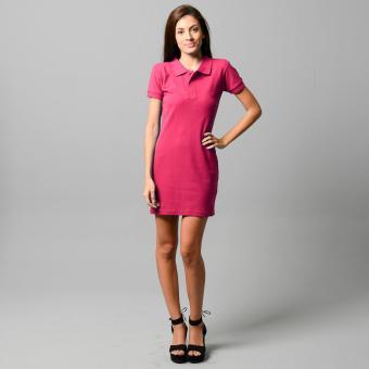 BLKSHP Polo Shirt Mini Dress (Magenta) - 3