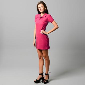 BLKSHP Polo Shirt Mini Dress (Magenta) - 5