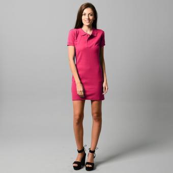BLKSHP Polo Shirt Mini Dress (Magenta) - 4
