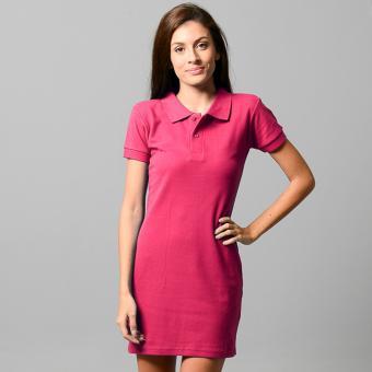 BLKSHP Polo Shirt Mini Dress (Magenta) - 2