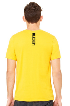 BLKSHP Printed Classic Fit Adult T-Shirt (Yellow Gold) - picture 2