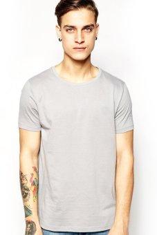 BLKSHP SLIM-FIT 100% Cotton T-Shirt (Light Grey)