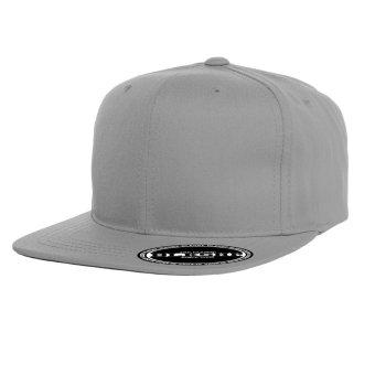 BLKSHP Solid Blank Plain Snapback (Grey)