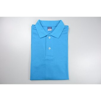 Blue Corner Men's Plain Polo Shirt (Blue)