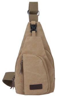 Blue lans Canvas Sling Shoulder Bag (Brown)
