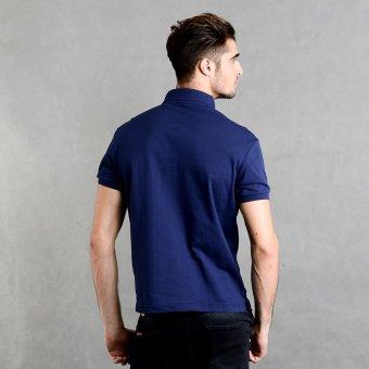 Blued Morgan-17 Men's Plain Polo Shirt (Indigo) - picture 3
