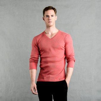 Blued Tommy-17 Men's Plain Pullover (Acid Red)