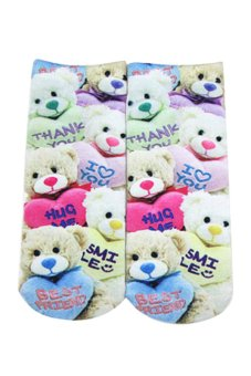 Bluelans® 3D Little Bear Printed Harajuku Ankle Socks