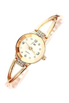 Bluelans Alloy Rhinestone Bracelet Wrist Watch (Rose Gold) - picture 2