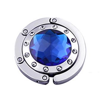 Bluelans Crystal Folding Handbag Hook (Blue)