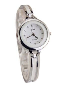 BlueLans Quartz Analog Bracelet Wrist Watch (Silver)