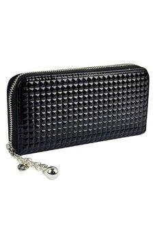 Bluelans® Women Zip PU Leather Clutch Case Wallet Purse Black