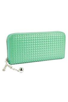 Bluelans® Women Zip PU Leather Clutch Case Wallet Purse (Green)