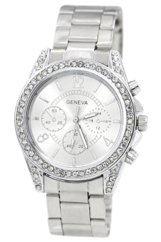 Bluelans Women's Silver Stainless Steel Band Watch