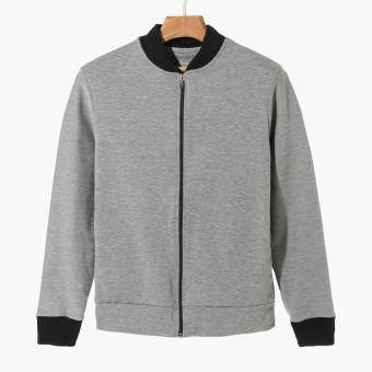 Bo Athletics Mens Bomber Jacket (Grey)