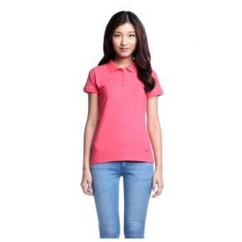 Bobson Ladies' Solid Polo Tee (Rouge Red)
