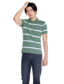 Bobson Slim Fit Stripes Polo Tee (Myrtle) Price Philippines