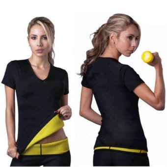 Body Hot Shapers Women Stretch Neoprene Slimming T Shirt