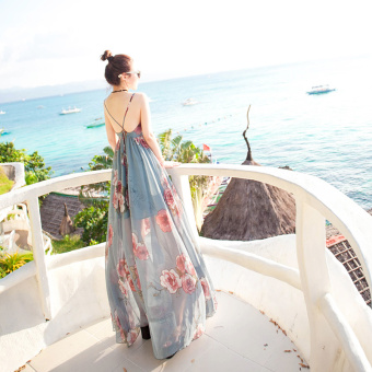 Bohemian female New style dress beach skirt (092 flower soul)