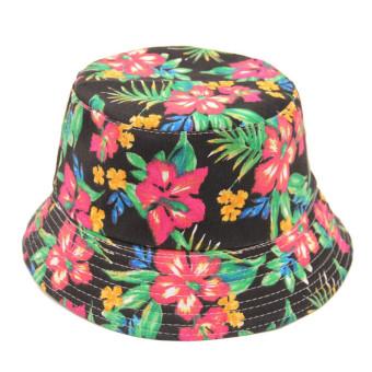 Bohemian Style Printing Stripe Lattice Women's Sun Hat
