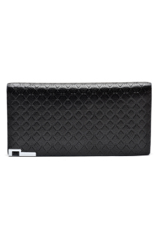 Borenyas BY-004-3 Long Wallet Clutch (Black)