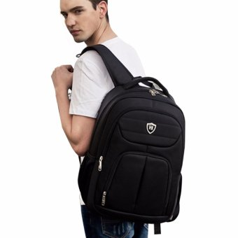 Boshikang Men Backpack Large Capacity Bagpack for Boys Daypack Laptop Back Pack Waterproof Oxford Black Student School Bag(Black) - intl - 4