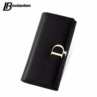 BOSTANTEN 2016 Genuine Leather Women Wallets Luxury Famous Brand Wallets for Women Coin Purses Holders Ladies Wallet Long Purses - intl