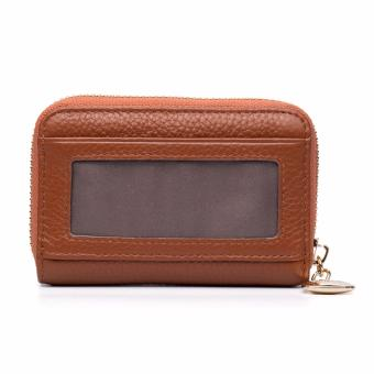 BOSTANTEN Genuine Leather Unisex Card Holder Wallets High QualityFemale Credit Card Holders Women Pillow Mini Card holder Purse -intl - 3