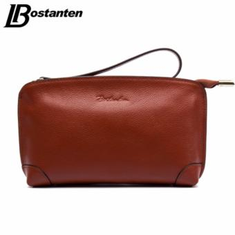 BOSTANTEN High Capacity Fashion Women Wallets Long Genuine Leather Wallet Female Zipper Clutch Coin Purse Cell Phone Wristlet - intl