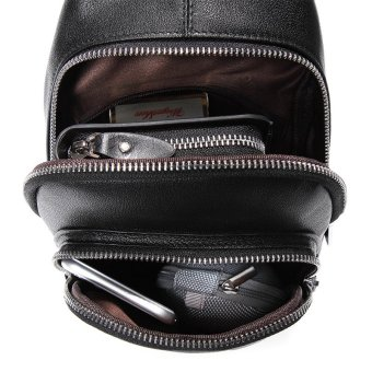 Bostanten Men's Genuine Cowhide Leather Chest Sling Bag Cross-body Newest Shoulder Bag - 3