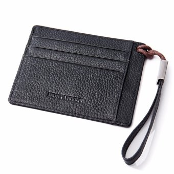 Bostanten Men's Leather Cowhide Fashion Coin Purse Card Holders Black - intl - 4