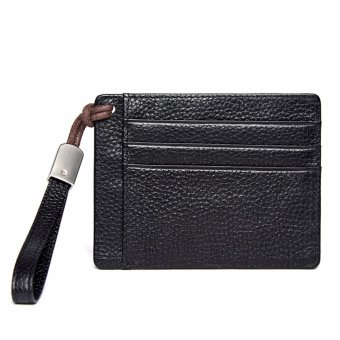 Bostanten Men's Leather Cowhide Fashion Coin Purse Card Holders Black - intl - 3