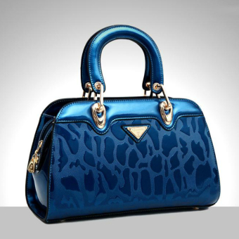 Brand name leather spring and summer New style hand in hand Shishang women's bag (Sapphire blue color)