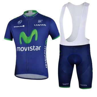 Brand Summer Quick Dry Short Sleeve Top Cycling Jersey And BibPants Set - intl