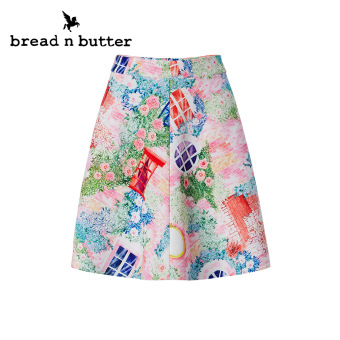 Bread n butter summer new printed half-length skirt