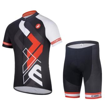 Breathable Bike Cycling Clothing/Quick-Dry Cycling Short Sleeve Suit - intl