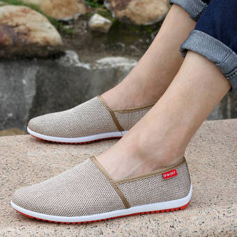 Breathable Linen Summer Fashion Sports Shoes - Brown - picture 2