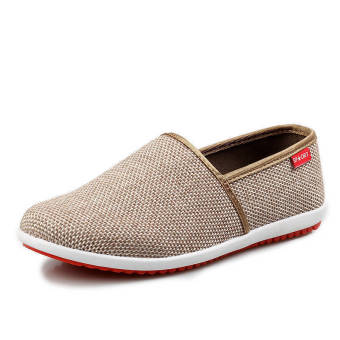 Breathable Linen Summer Fashion Sports Shoes - Brown