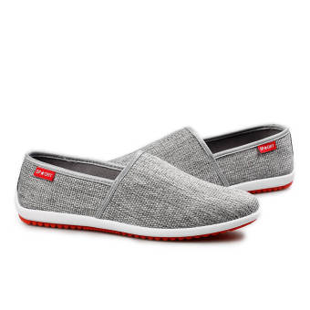 Breathable Linen Summer Fashion Sports Shoes - Grey - picture 2