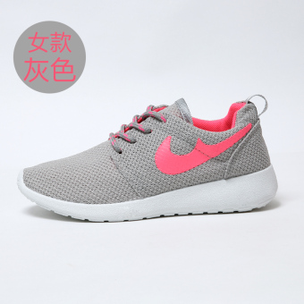 Breathable mesh Female Summer Plus-sized running casual shoes Shoes (0966 gray)