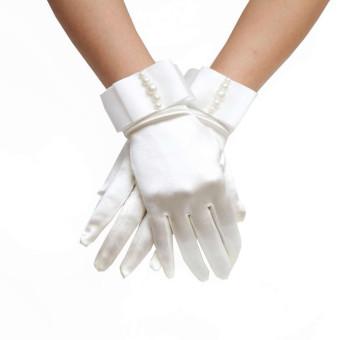 Bridal Gloves With Nice Beadings Dinner Gloves Wedding Gloves