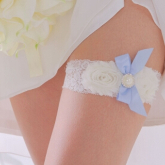 Bridal Wedding Prom Garter (White) - picture 2