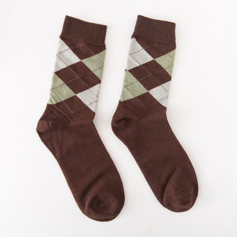 British cotton men's geometric tube socks child (PARK'S color)