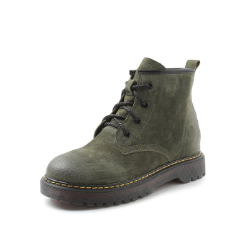 British style flat lace Spring and Autumn single boots Dr. Martens (Green)